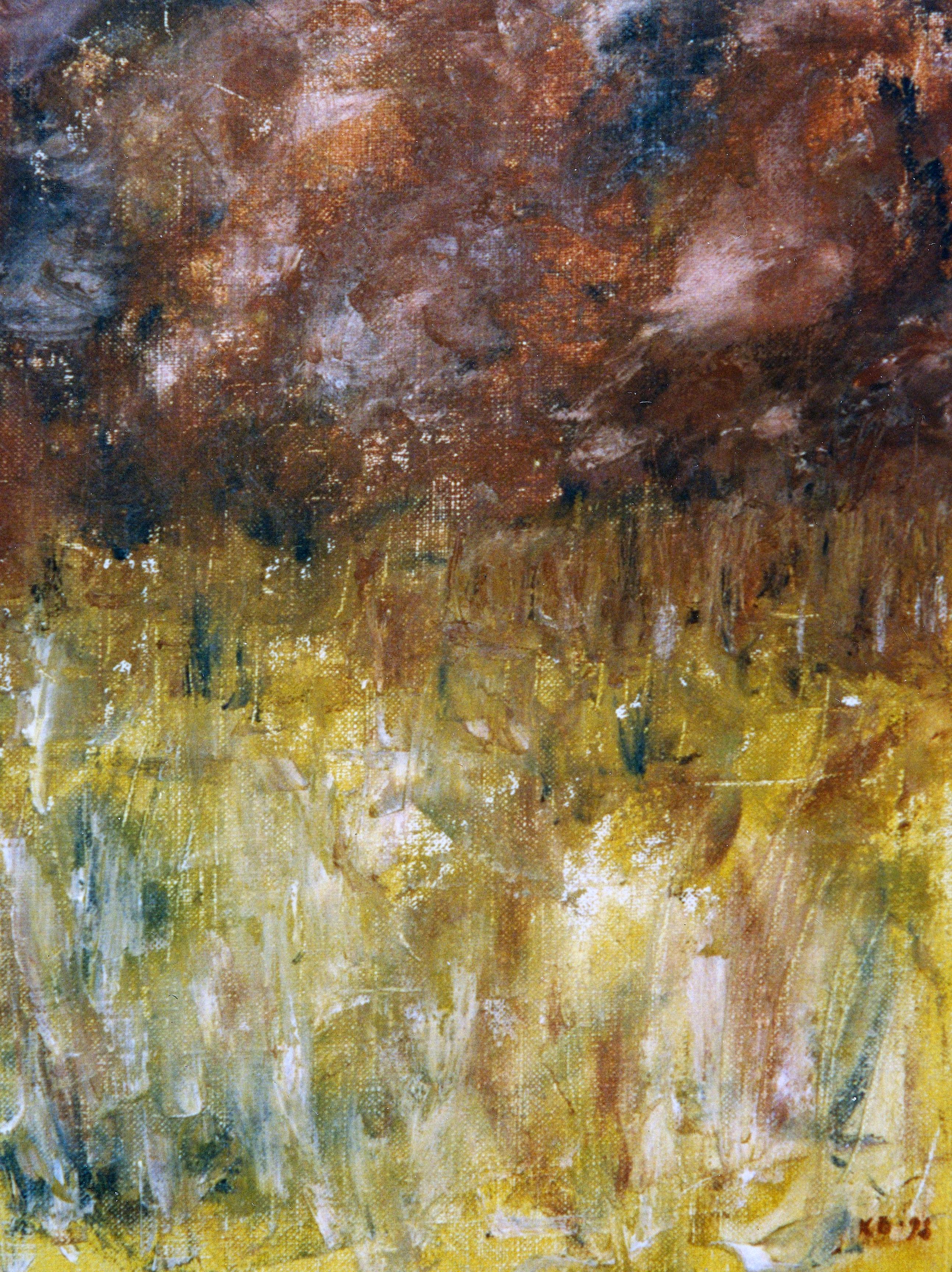 Landskap 30x40cm olja på duk 1998