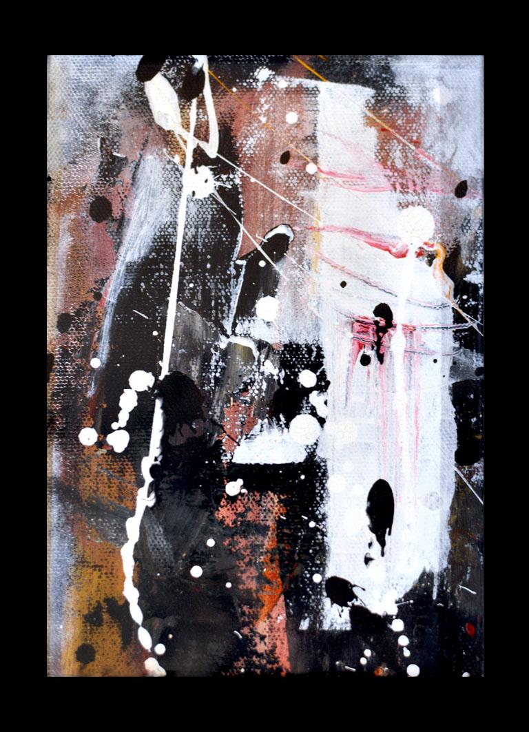 Utan titel akryl på duk 13x18cm 2013