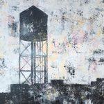 Water tower akryl på duk 70x100 2013